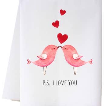 P.S. I LOVE YOU FLOUR SACK TOWEL