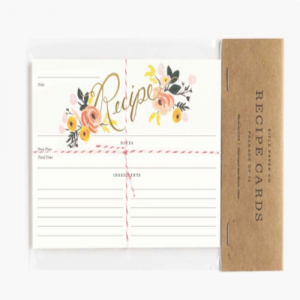 PEONY PACK OF 12 RECIPE CARDS
