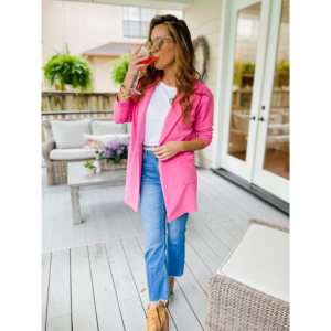 PINK BUTTON COAT