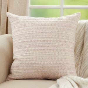 PINK DOWN FILLED WOVEN PILLOW