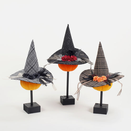 PLAID WITCH HATS