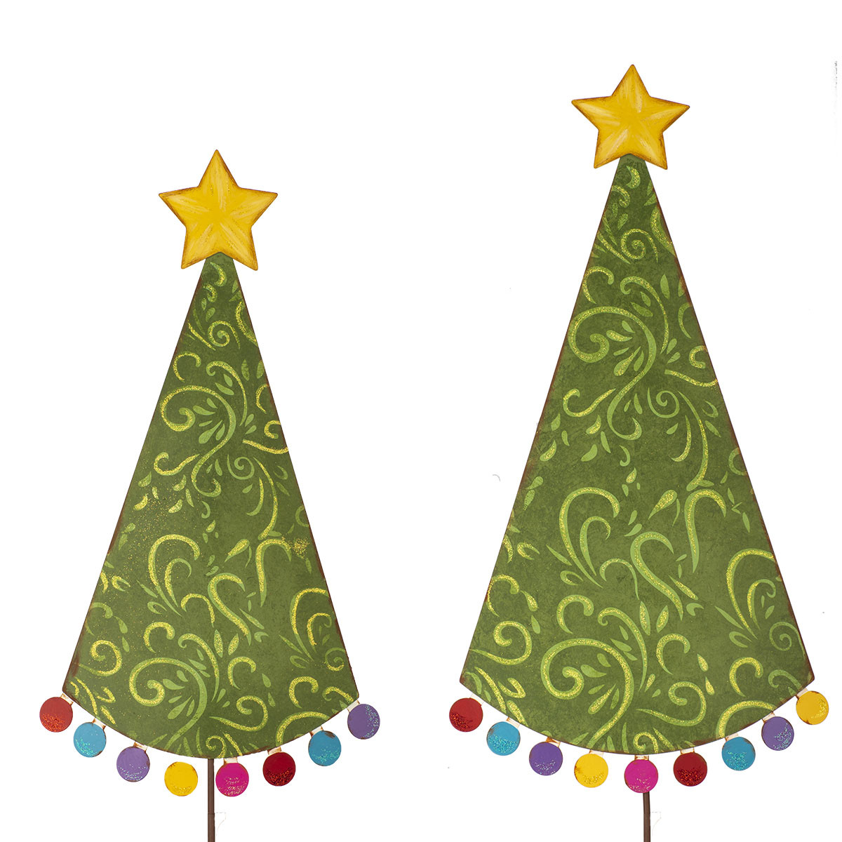 Stake Christmas Trees: POM POM CHRISTMAS TREE STAKES