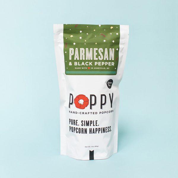 POPPY PARMESAN & BLACK PEPPER HAND-CRAFTED POPCORN