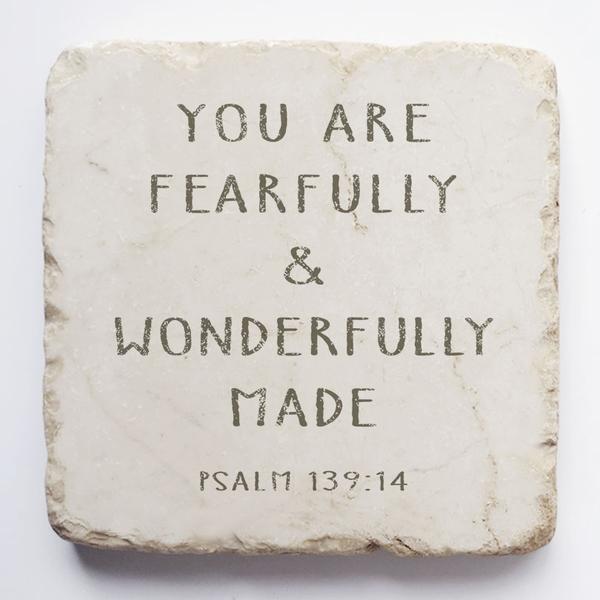PSALM 139:14 STONE BLOCK