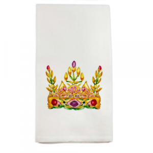 QUEEN'S CROWN DISH TOWEL