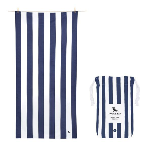 DOCK & BAY QUICK DRY BEACH TOWEL IN WHITSUNDAY BLUE