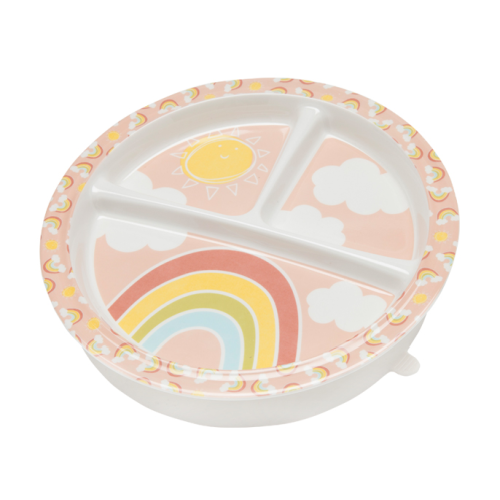 RAINBOWS AND SUNSHINE DIVIDED SUCTION PLATE