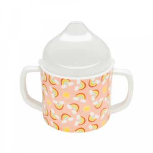 RAINBOWS AND SUNSHINE SIPPY CUP