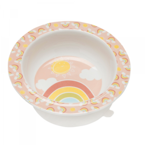 RAINBOWS AND SUNSHINE SUCTION BOWL