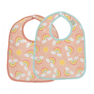 RAINBOWS & SUNSHINE MINI BIB SET OF 2