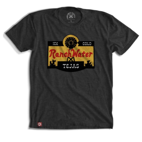 RANCH WATER LABEL CREW NECK SHIRT