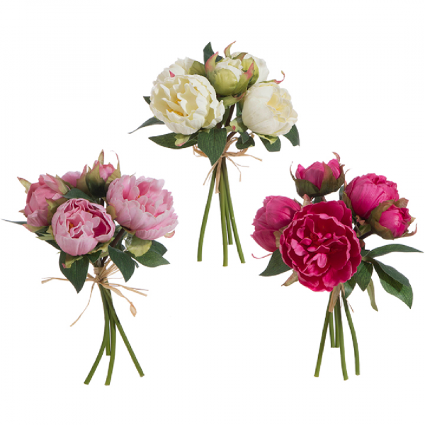 REAL TOUCH PEONY BOUQUET