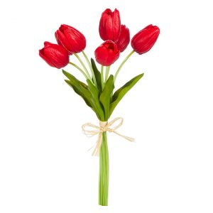 REAL TOUCH RED TULIP BUNDLE