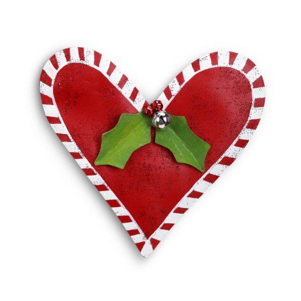 RED CHRISTMAS HEART DOOR HANGER