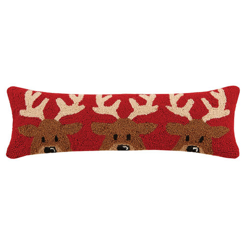REINDEER TRIO HOOK PILLOW