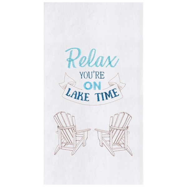RELAX YOU'RE ON LAKE TIME DISH TOWEL