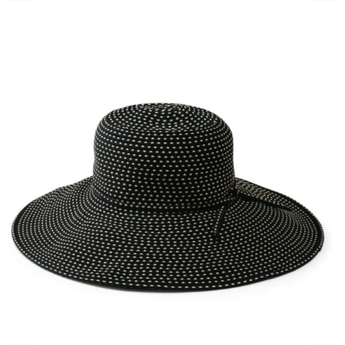 RIBBON BRAID HAT WITH TICKING