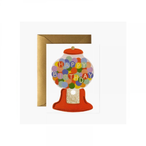 RIFLE PAPER BOXED SET OF 8 GUMBALL BIRTHDAY CARD