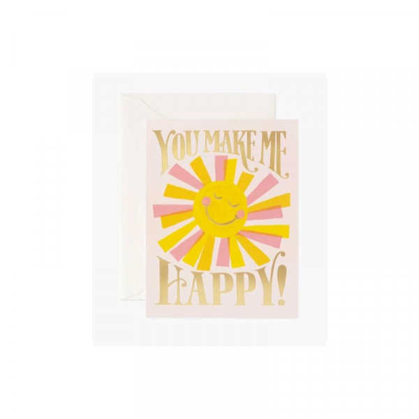 RIFLE PAPER BOXED SET OF 8 YOU MAKE ME HAPPY CARDS