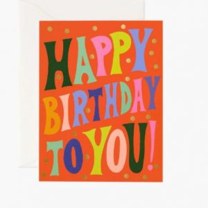 RIFLE PAPER GROOVY BIRTHDAY BOXED SET CARDS