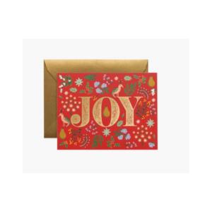 RIFLE PAPER PATRIDGE JOY HOLIDAY BOXED SET CARDS