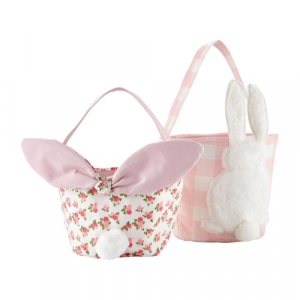 ROSE AND GINGHAM EASTER BASKETS
