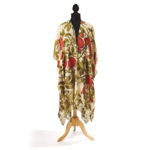 ROSE BUSH RED LONG KIMONO