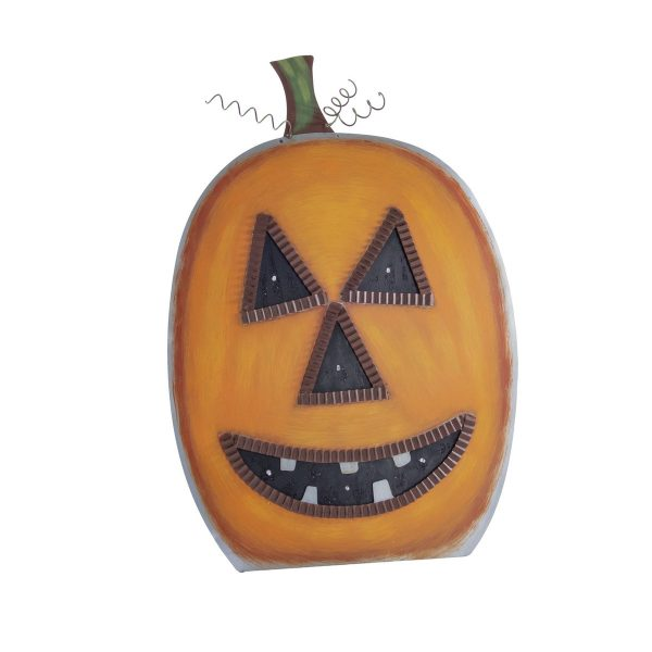 ROUND TOP COLLECTION TALL LIGHTED JACK-O-LANTERN YARD DECOR