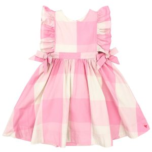 SEA PINK GINGHAM AMY DRESS