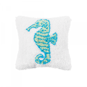 SEAHORSE HOOKED PILLOW