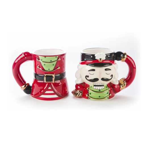 SET OF 2 NUTCRACKER MUGS