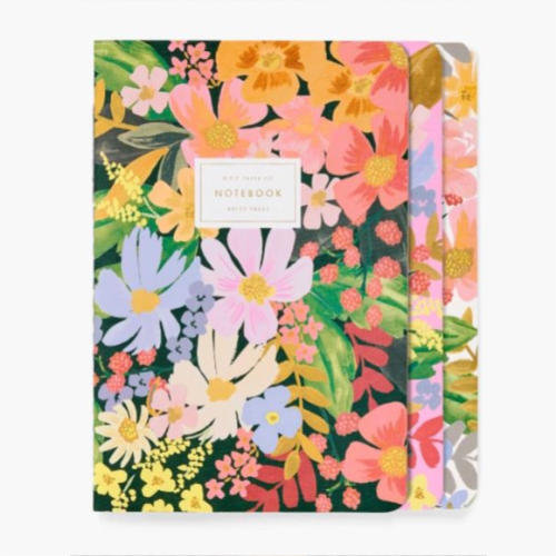 SET OF 3 MARGUERITE NOTEBOOKS