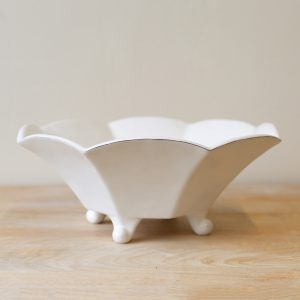 SMALL CHARTRES FOOTED SERVING BOWL