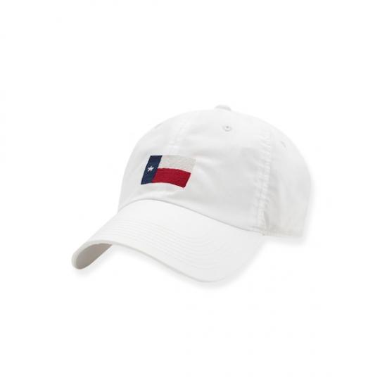 SMATHERS & BRANSON WHITE TEXAS FLAG PERFORMANCE HAT