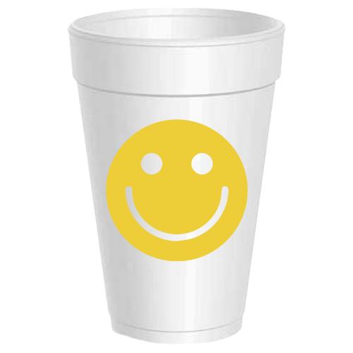 SMILEY FACE STYROFOAM CUPS