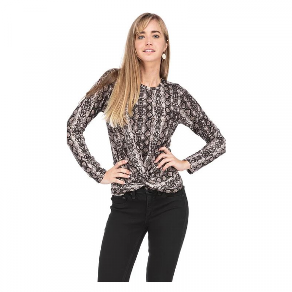 SNAKE FRONT KNOT TOP