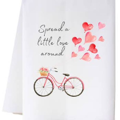 SPREAD A LITTLE LOVE AROUND FLOUR SACK TOWEL