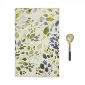 SPRING LEAVES KITCHEN TOWEL AND UTENSIL SET