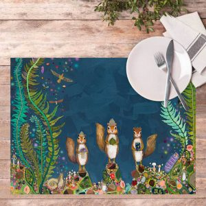 SQUIRREL ROYAL VINYL PLACEMAT