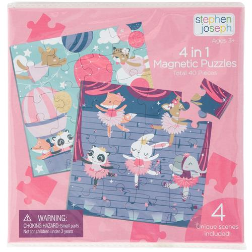 STEPHEN JOSEPH 4 IN 1 MAGNETIC PUZZLE BOOK-GIRL