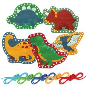 STEPHEN JOSEPH DINO LACING CARDS