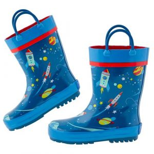 STEPHEN JOSEPH SPACE RAIN BOOTS