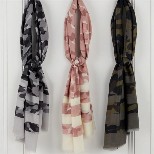 STRIPED CAMO SCARF