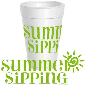 SUMMER SIPPING SUN STYROFOAM CUPS