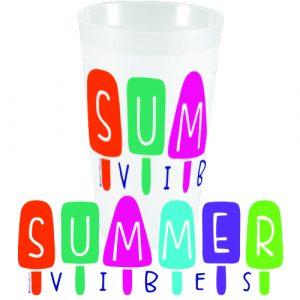 SUMMER VIBES FROSTED CUPS