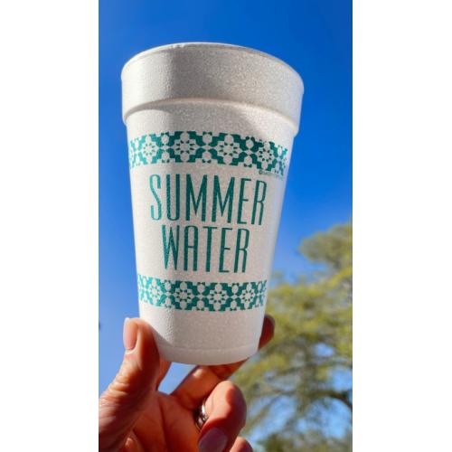 SUMMER WATER STYROFOAM CUPS