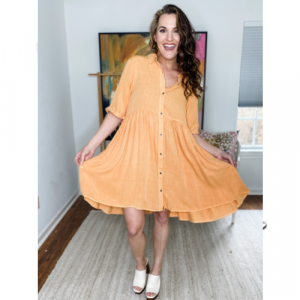 SUNRISE BUTTON FRONT DRESS
