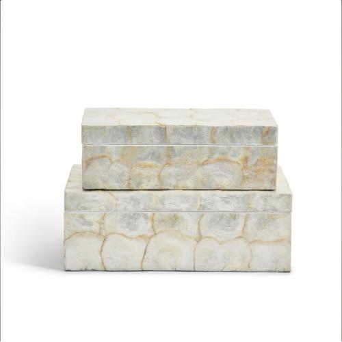SUPER WHITE CAPIZ SHELL ACCENT BOX