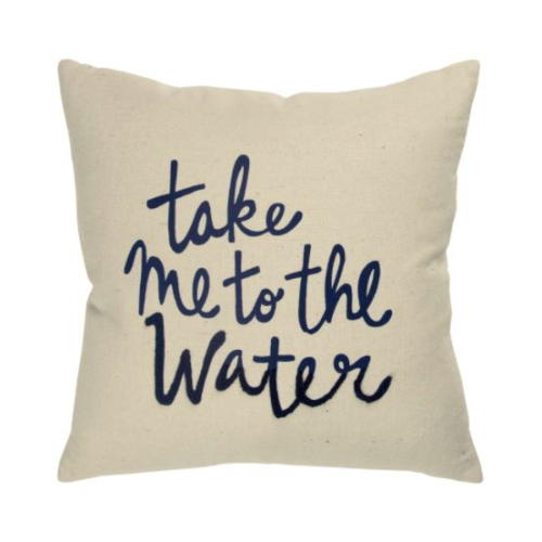 TAKE ME TO THE WATER PILLOW
