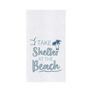TAKE SHELTER AT THE BEACH DISH TOWEL